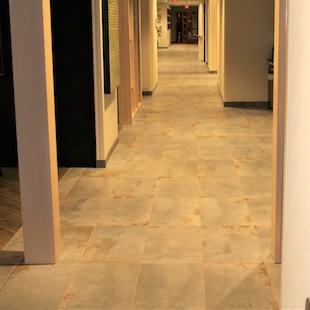 Commercial tile floor in hotel