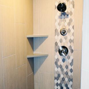 Shower surround tile installation Crown Point